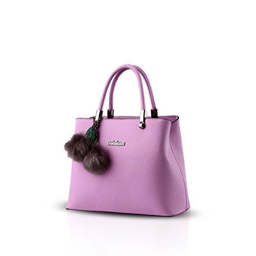 Bilis, Borsa a mano donna, Black (nero) - Bilis-853 Purple taro