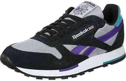 Reebok Sneaker CL Leather MU CN7035 Mehrfarbig Black Wht Shadow Purple, Schuhgröße:43 -