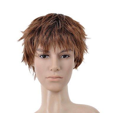 HJL-cheveux courts brun dor¨¦ perruque cheveux bang hommes (0463-6.13-309)