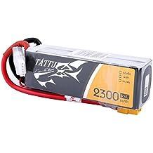 Tattu Batería LiPo 2300mAh 14.8V 45C 4S para Multicopteros FPV Racing Helicópteros Barcos y modelos RC diversos
