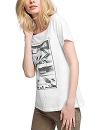 edc by Esprit 056cc1k010-Printed, T-Shirt Femme
