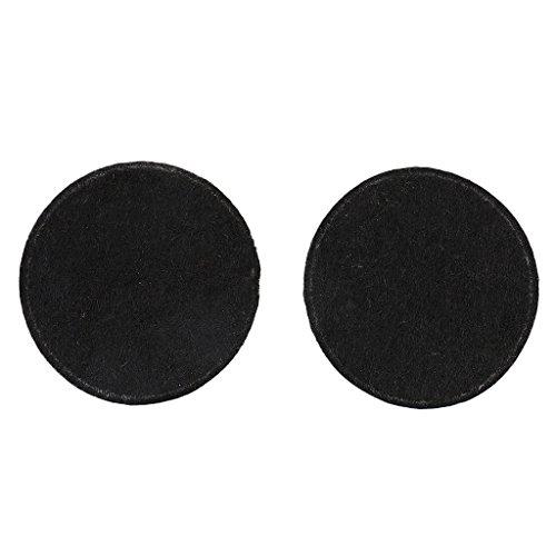 100x 40mm Gepolsterte Runde Form Handwerk Filz Stoff Polyester handmade Filzstoff Bastelfilz DIY Stoff Sewing – Schwarz, Durchmesser 40mm