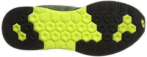 Lotto Sport Superlight Net, Chaussures Multisport Outdoor Homme Jaune (Ylw Saf/blk)