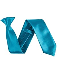 """Robelli Men's Classic Clip On 3"""" Wide Satin Safety Tie"""