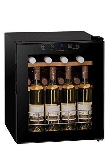 DUNAVOX DX-16.46K Weinkühlschrank, 1 Kühlzone, bis 16 Flaschen, Innenbeleuchtung, Touch...