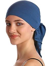 Bandana unisexe en coton et bambou pour perte de cheveux, cancer, chimiothérapie