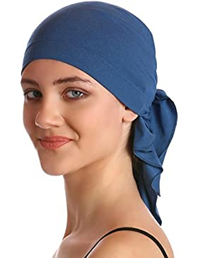 Bandana di Cotone Unisex per la perdita di capelli (Carolina Blue)