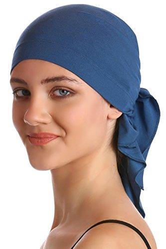 Unisex Baumwolle Bandana Fur Haarverlust (Carolina Blue)