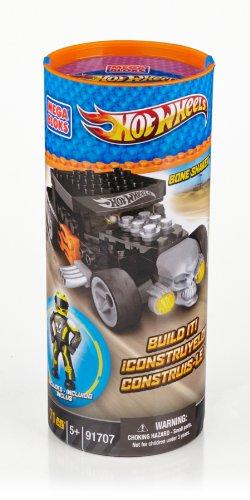Mega Bloks - Hot Wheels - Turbo Tube - Bone Shaker - Jaune
