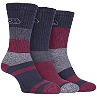 Storm Bloc - 3 Pack Mens Padded Sole Anti Blister Lightweight Breathable Cotton Walking Hiking Socks for Summer