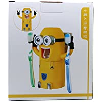 Volans 2 Eyes Minions Toothpaste Dispenser and Toothbrush Holder Set by Volans