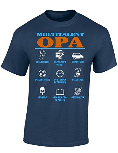 Opa T-shirt (Baddery: Multitalent Opa - Opa T-Shirt als Geschenk für alle werdenden Opas - Geschenkidee für den Großvater, Denim, 5XL)