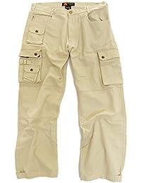 robuste Outdoor Herren Cargo Hose mit vielen Taschen und Extras in braun, khaki und beige