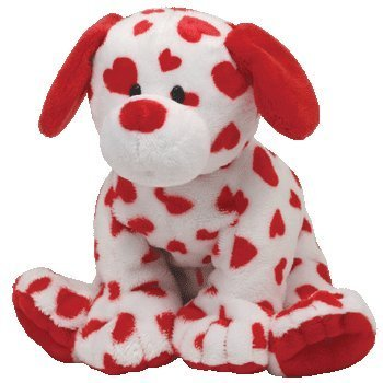 Ty Pluffies Hearts Valentines Dog 32132 by Ty Pluffies