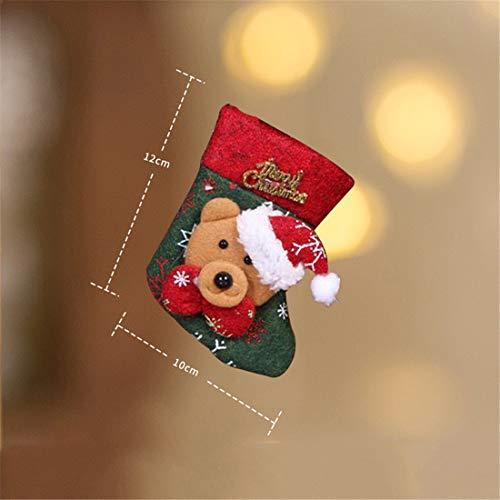 LLUFFY-Socks Socken Weihnachtsschmuck Vlies Alter Mann Schneemann Tote kleine Candy Holiday Geschenktüte, Trompete (Kleiner Bär)