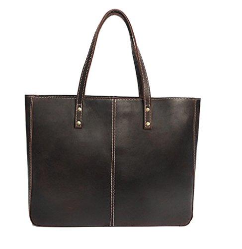 WUZHI Frauen Handtaschen Kuriertasche Damen Brieftasche Umhängetasche Rucksack Tasche Reißverschluss Laptop Tasche Tasche Seitentasche,Black-OneSize