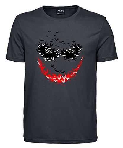 makato Herren T-Shirt Luxury Tee Psychobats Dark Grey