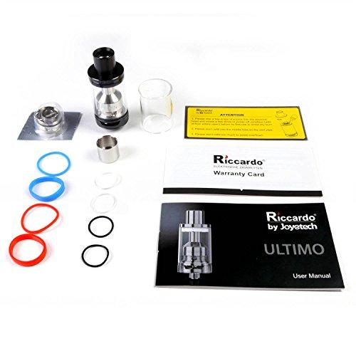 Riccardo Ultimo Clearomizer 4 ml, Durchmesser 22 mm, silber, 1er Pack (1 x 1 Stück)