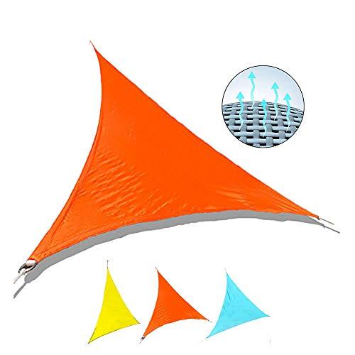 Diafrican Tenda a Vela Triangolare Vele parasole Garden Sail Impermeabile Vela Tenda Parasole da Giardino Tende da Sole per Esterno Protezione Anti Raggi UV 95% - Arancione
