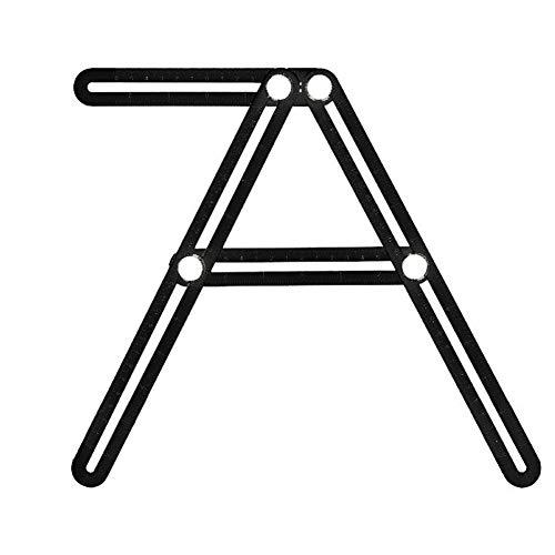Praktisches Mehrwinkelmessung, das Ruler multifunktionale, flexible Ruler Vorlage für alle Winkel und Formen schwarz