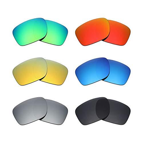 MRY 6Paar Polarisierte Ersatz Gläser für Oakley Holbrook Sonnenbrille