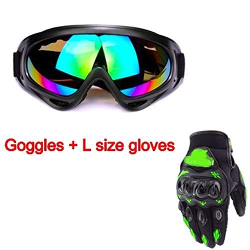 H-MetHlonsy Militärbrille Moto Kugelsichere Armee Polarisierte Sonnenbrille Jagd Schießen Luftgewehr Fahrrad Motorrad Brille Outdoor Sports L Green Gloves