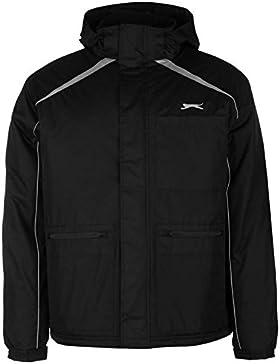 Slazenger Panel chaqueta para hombre color negro chaquetas abrigos Outerwear Sportswear, negro, large