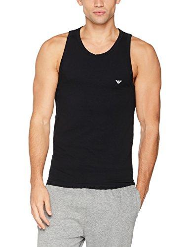 Emporio Armani Underwear Herren 110828CC735 Unterhemd, Schwarz (Nero 00020), Medium