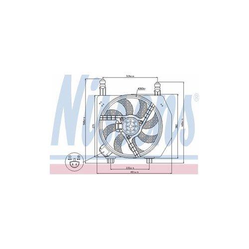 Preisvergleich Produktbild Nissens 85171 Lüfter Wasserkühler