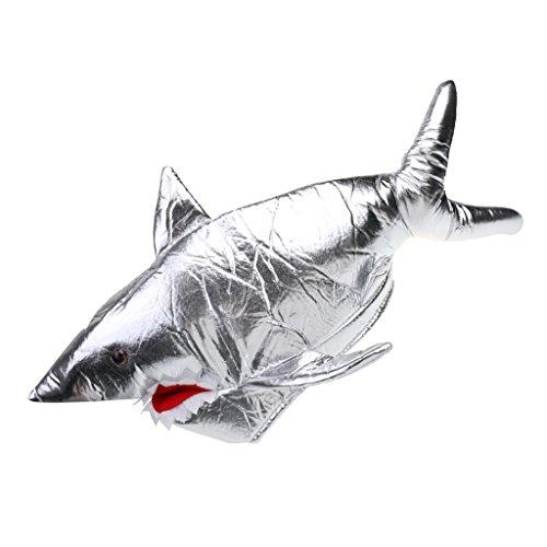 Preisvergleich Produktbild MagiDeal Haifisch Hut Shark Tier Mütze für Kostüm Karneval Halloween Fasching