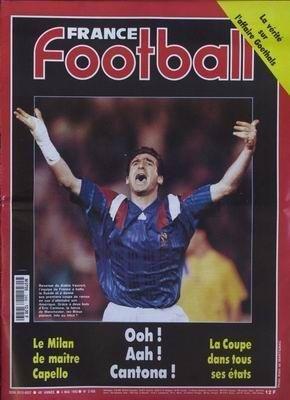 FRANCE FOOTBALL [No 2456] du 04/05/1993 - AFFAIRE GOETHALS - LE MILAN DE MAITRE CAPELLO - CANTONA - LA COPE.