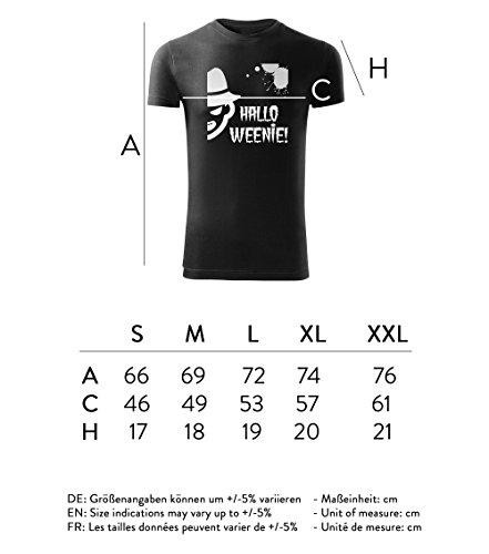 Herren Halloween - T-Shirt Poloshirt mit Motiv - Design - Party - Freizeit - Sport - Fun -S-XXL - NEU – Hallo Weenie Schwarz