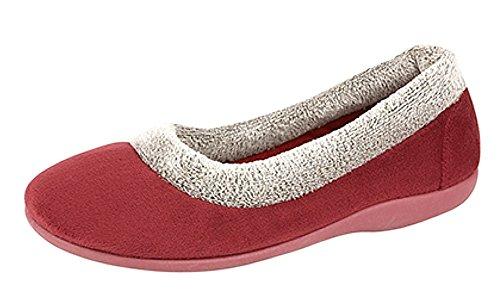 Ciabatte, Pantofole Da Donna Bordeaux