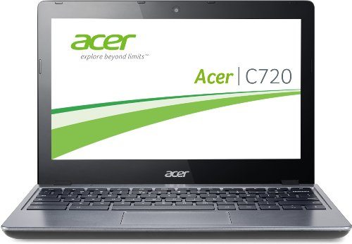 Acer C720-29552G01AII 29,5 cm (11,6 Zoll) Chromebook (Intel Celeron 2955U, 1,4GHz, 2GB RAM, 16GB SSD, Intel HD, Chrome) grau Wxga, 2 Gb Ram