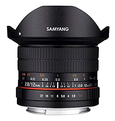 Samyang F1112103101 - Objetivo fotográfico DSLR para Nikon F Ae (Distancia Focal Fija 12mm, Apertura f/2.8-22 ED AS NCS, Ojo de Pez), Negro