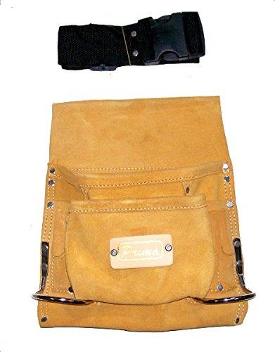 Prima Tools lps8s Hochwertige Wildleder Leder Nagel Werkzeug Tasche mit 8Taschen-Gelb - Tasche Wildleder Leder Nagel