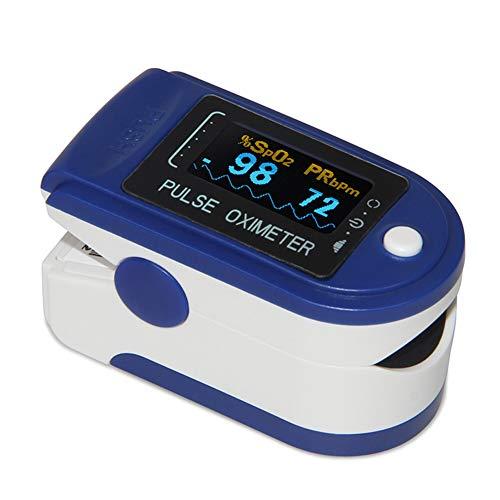 REDGO Monitor Oxímetro Digital de Pulso, Pulsímetro Dedo Leer Instantáneo Latidos de Pulso y Saturación...