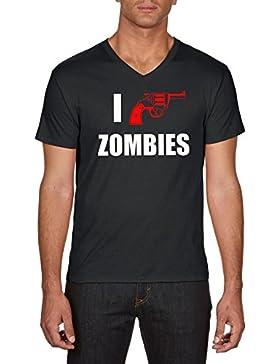 Touchlines I Shoot Zombies, Camiseta para Hombre