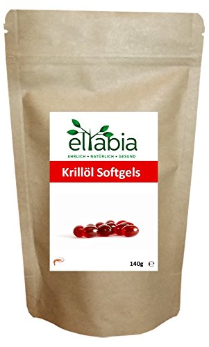 eltabia Krillöl hochdosiert 200 Kapseln Standard Pack Reich an Astaxanthin und Omega 3 - Neutral im Geruch und Geschmack - Ohne Aufstoßen