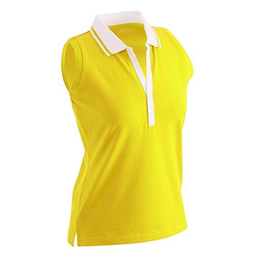 James & Nicholson - Polo -  Femme jaune soleil/blanc