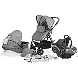 Kinderkraft Moov silla multifuncional 3en1 silla de paseo y silla de coche gris