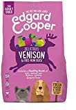Edgard & Cooper Delicious Venison & Free Range Duck | Dry Adult Dog Food | Reduces Skin Irritation | With Apple, Beetroot, Pear & Blueberry | Slow Cooked | Grain Free | 100% Fresh Meat | 7KG Bag
