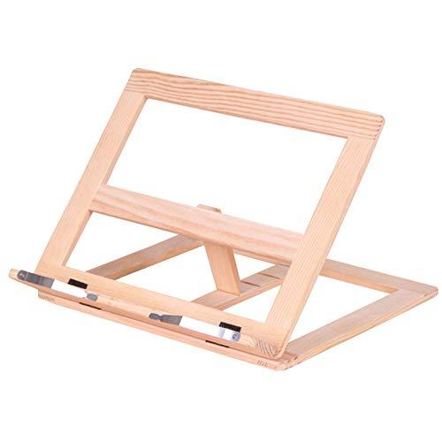 aus Holz verstellbare Kochbuchständer Halter Fach und Seite Büroklammern Lehrbücher Musikbücher Tablet Kochrezept Steht ()