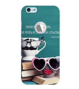 Ebby Premium 3d Desinger Printed Back Case Cover For Apple iPhone 6 with Hole (Premium Desinger Case)