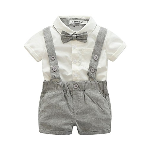 Miyasudy neonato bambino vestiti 2pcs manica corta tutina battesimo pagliaccetti abiti cerimonia bimbo eleganti suit