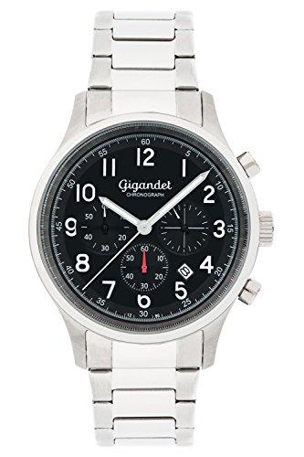 Gigandet Efficiency Montre Homme Chronographe Analogique Quartz Argent Noir G50-003