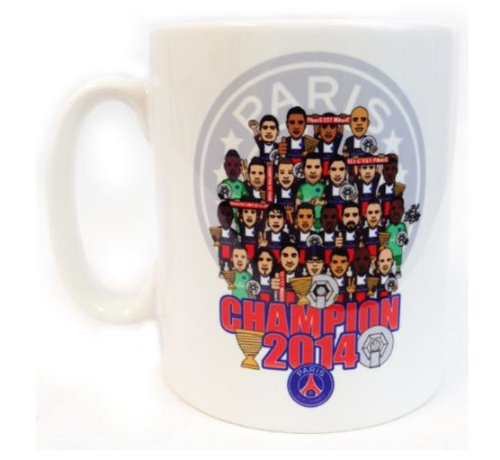 Mug tasse à café PSG - CHAMPION DE FRANCE 2014 - PARIS SAINT GERMAIN - Collection officielle - Football Ligue 1