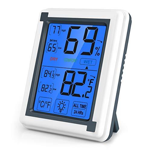 Orologio Digitale //Batteria Monitorare per Auto OFKPO 3 in 1 LCD Termometro