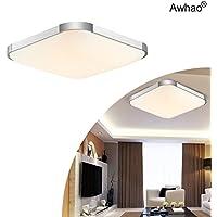 Awhao Lámparas del techo LED 12W 24W 36W Lámparas de techo inteligente Bombillas del techo Con el control remoto Ahorro De Energía Iluminación de Interior[Clase de eficiencia energética A+++] (24W)