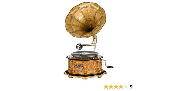 Grammophon Deko Grammophone Trichter Grammofon Messing Antik Schellackplatte